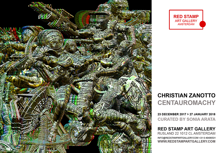 christian zanotto,centauromachy,solo show,red stamp art gallery,amsterdam