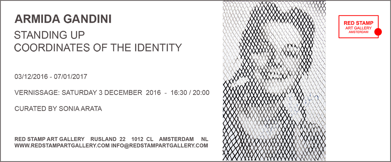 armida gandini,red stamp art gallery,amsterdam,standing up,coordinates,coordinates of the identity,identity,identità,coordinate,sonia arata,marco nember