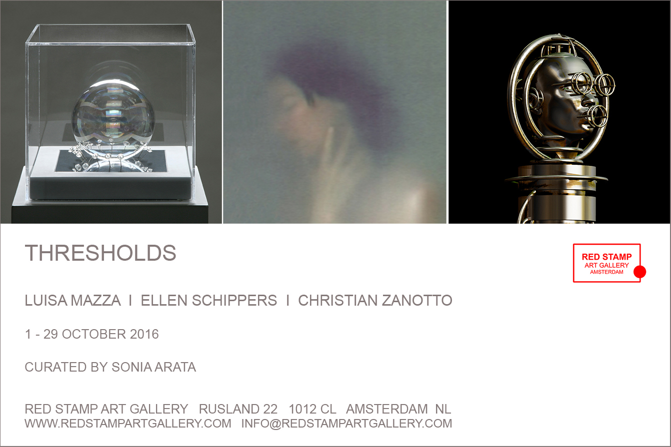 thresholds,luisa mazza,ellen schippers,christian zanotto,red stamp art gallery,amsterdam,sonia arata,exhibition,show,collective