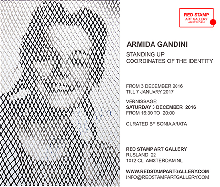 red stamp art gallery,armida gandini,standing up,coordinates of the identity,sonia arata,amsterdam